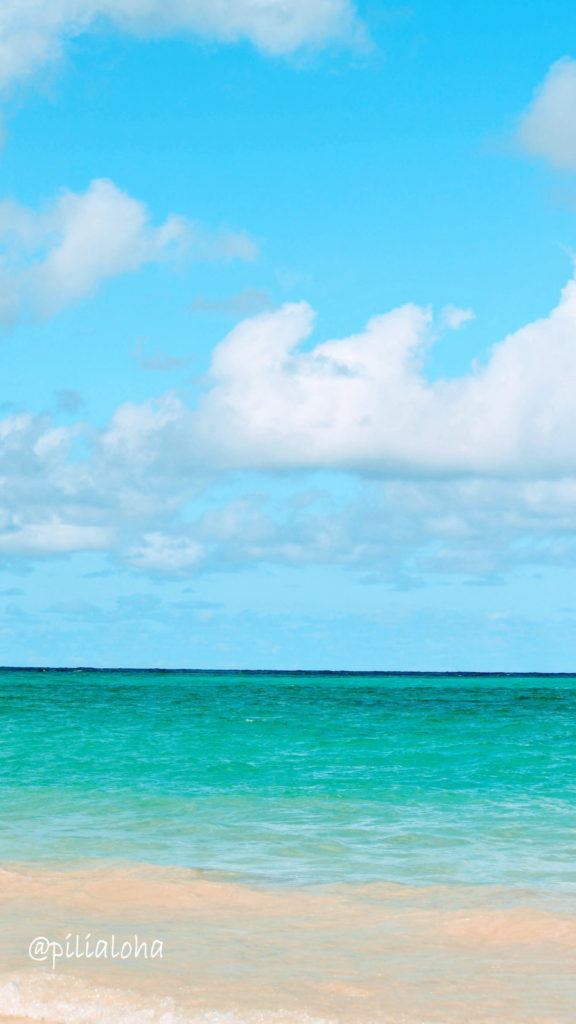 free iphone wallpaper Kailua beach in Hawaii