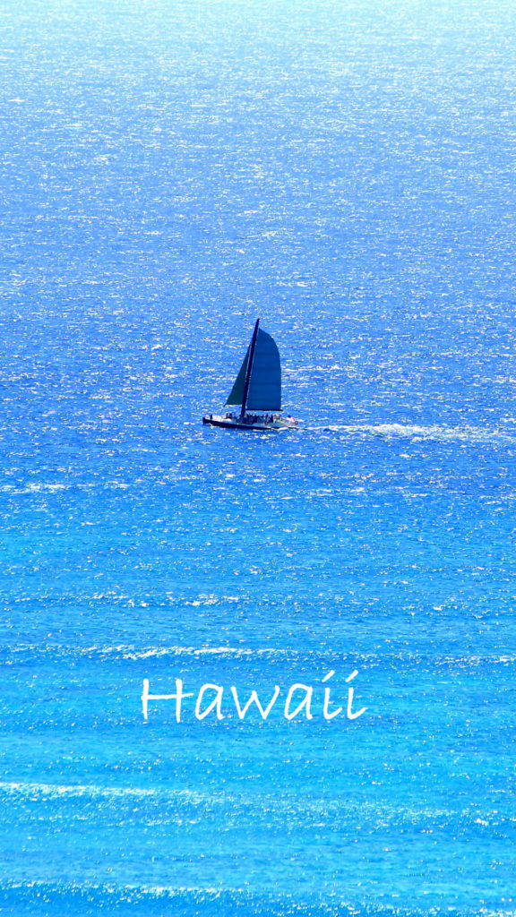 free iphone wallpaper yacht sailing in Hawaii
